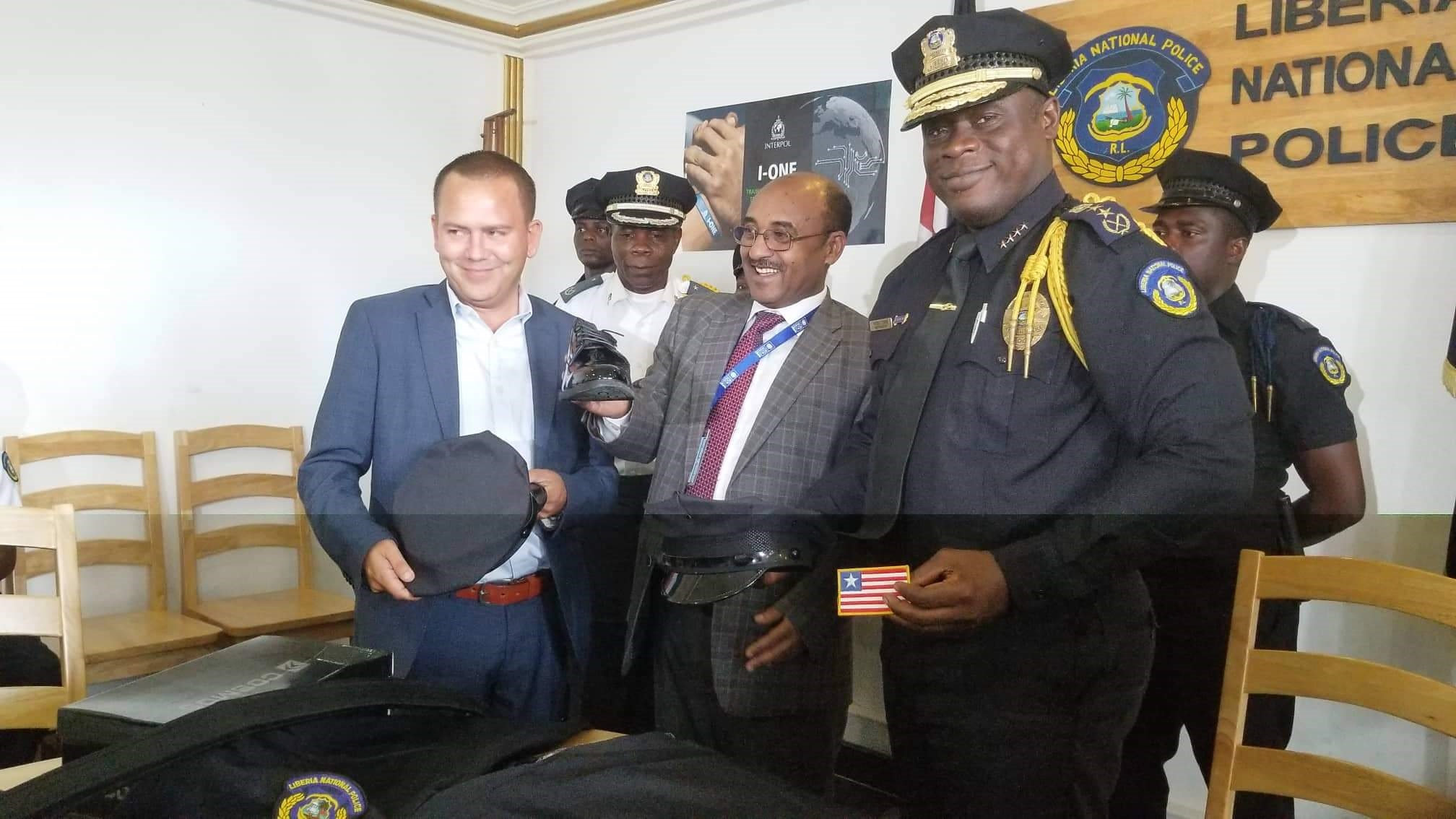 Sweden, Ireland and UNDP donate uniforms to Liberian Police